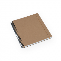 Cahier toile, spirales, 170 x 200 mm w-o