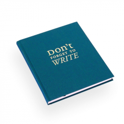 "Carnet ""Don't forget to write"""
